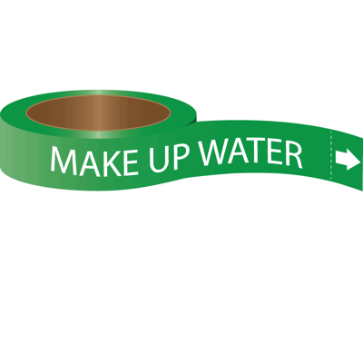 Roll Form Self-Adhesive Pipe Markers - Make Up Water