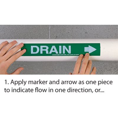 Roll Form Self-Adhesive Pipe Markers - Treated Water