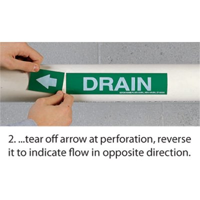 Roll Form Self-Adhesive Pipe Markers - Domestic Hot Water