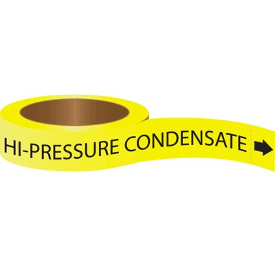 Roll Form Self-Adhesive Pipe Markers - Hi-Pressure Condensate