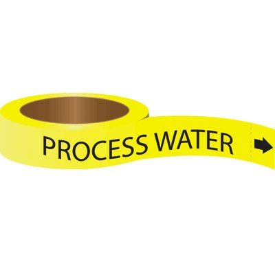 Roll Form Self-Adhesive Pipe Markers - Process Water