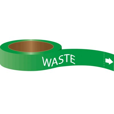 Roll Form Self-Adhesive Pipe Markers - Waste