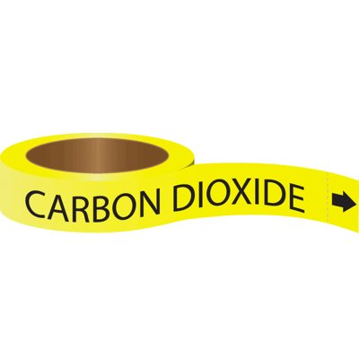 Roll Form Self-Adhesive Pipe Markers - Carbon Dioxide