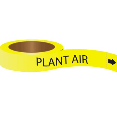 Roll Form Self-Adhesive Pipe Markers - Plant Air