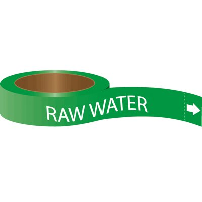 Roll Form Self-Adhesive Pipe Markers - Raw Water