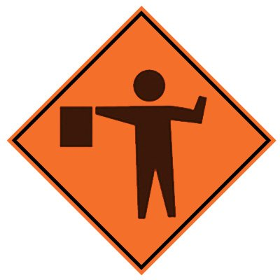 Roll-Up Sign - Flagger Symbol