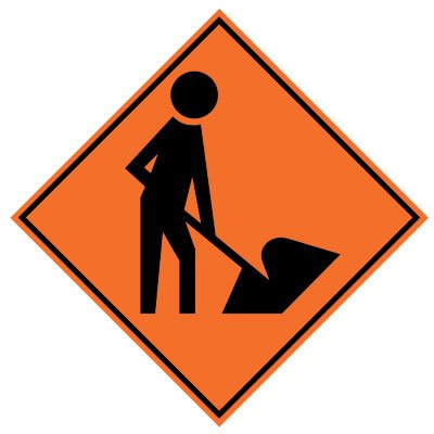 Roll- Up Sign - Men Working Symbol
