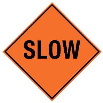 TrafFix Devices Roll-Up Sign - Slow 26036-EFO-HF