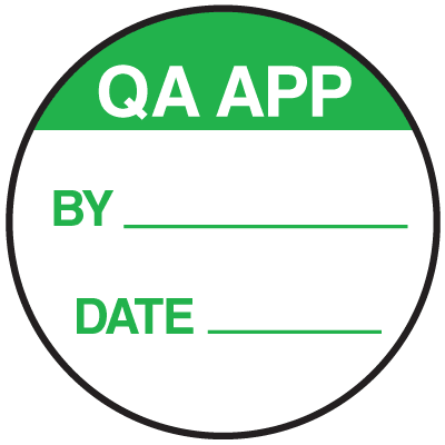 QA APP By Date Round Labels On A Roll