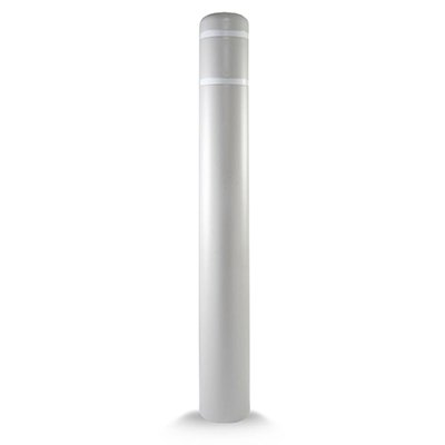 "Post Guard CL1385CW Lime Green Bollard Cover 5"" x 52"" White Tape"