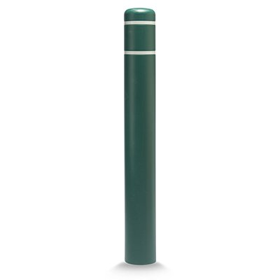 "Post Guard CL1386M Green Bollard Cover 7"" x 60"" White Tape"