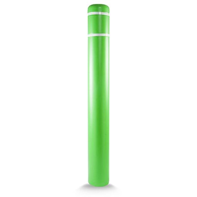 "Post Guard CL1386L72 Lime Green Bollard Cover 7"" x 72"" White Tape"
