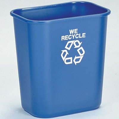 Rubbermaid Recycling Containers 2955-73-BLU