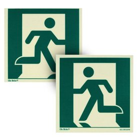 Running Man Stairwell Emergency Exit Signs