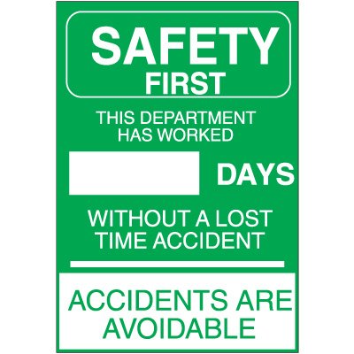 "Safety ""Accident Free"" Signs"