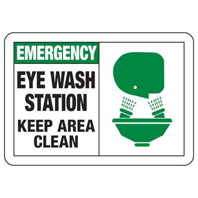 05163c2265a Photo Gallery. Safety Alert Signs - Emergency Eye Wash Station ...