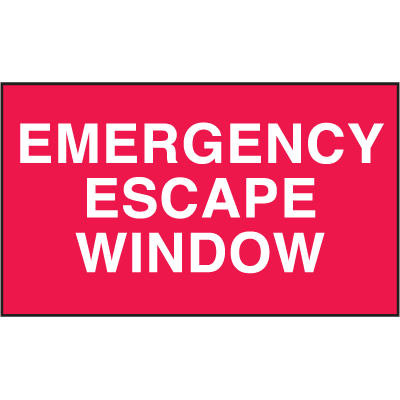 Emergency Escape Window Safety Door And Window Decals
