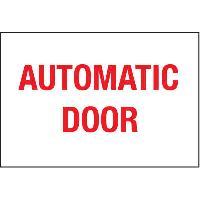 Automatic Door Safety Door And Window Decal