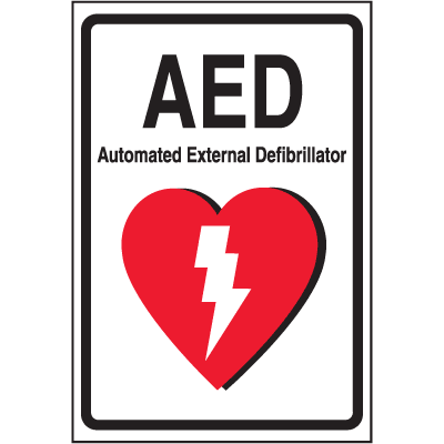 Safety Door And Window Decals - AED