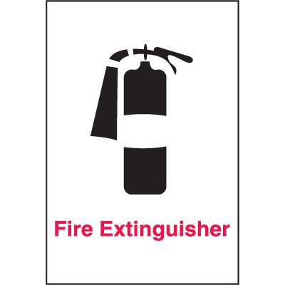 Fire Extinguisher Safety Door And Window Decal
