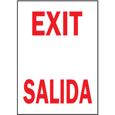 Exit / Salida Safety Door And Window Decal