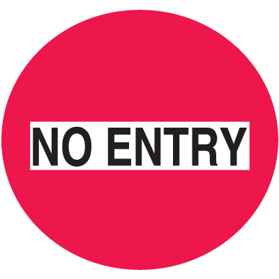 No Entry Safety Door And Window Decal