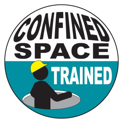 Safety Hard Hat Labels - Confined Space Trained