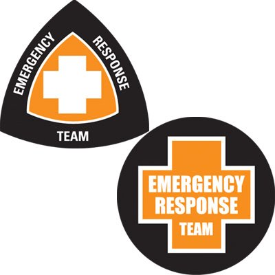 Safety Hard Hat Labels - Emergency Response Team