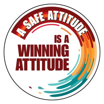 Safety Hard Hat Labels - Safe Attitude