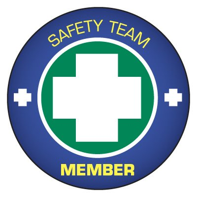 Safety Hard Hat Labels - Safety Team Member