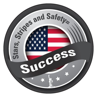 Safety Hard Hat Labels - Stars, Stripes and Safety