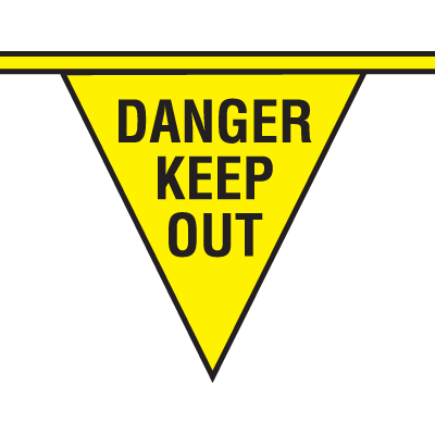 Safety Pennants - Danger Keep Out
