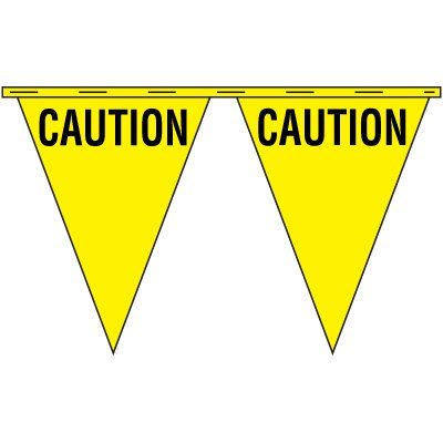 Caution Safety Pennants