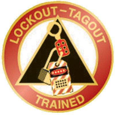 Lockout-Tagout Trained Pin