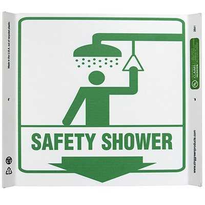 Safety Shower Corner Sign