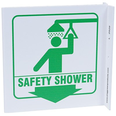 Safety Shower L-Style Sign
