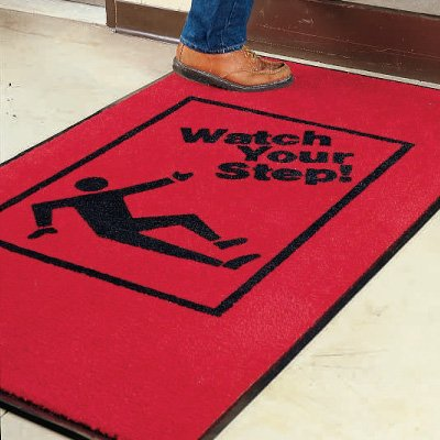 Safety Slogan Carpet Mat - Watch Your Step 2078832