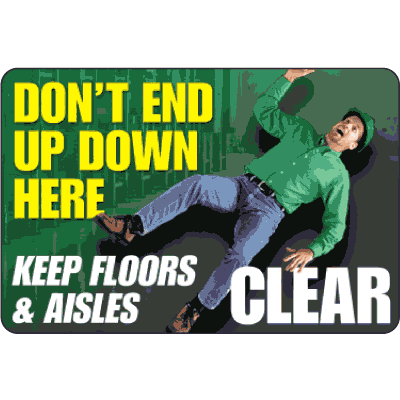 Keep Floors & Aisles Clear Floor Markers