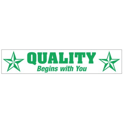 Safety Slogan Mirror Labels - Quality Begins With You