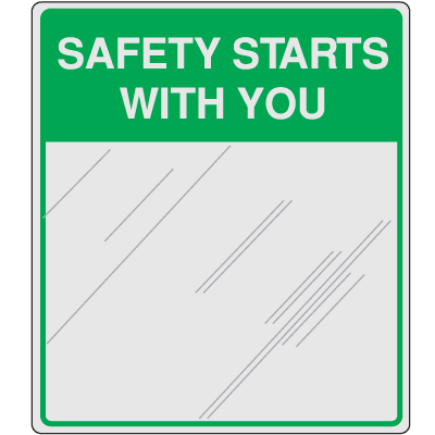 Safety Slogan Mirrors - Safety Starts With You