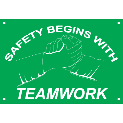 Safety Begins with Teamwork Safety Slogan Wallcharts