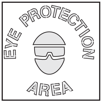 Safety Stencils - Eye Protection Area