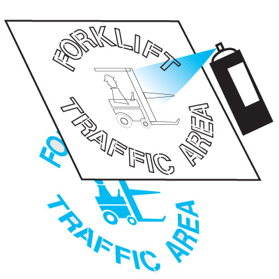Safety Stencils  - Forklift Traffic Area