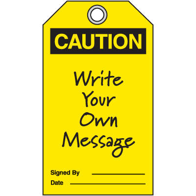 OSHA Safety Tags - Caution Header Only