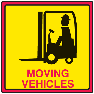 Safety Traffic Cone Signs - Moving Vehicles