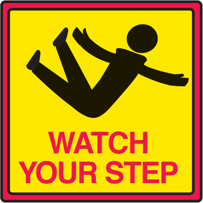 Safety Traffic Cone Signs - Watch Your Step