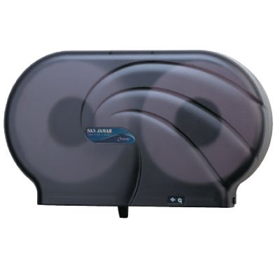 "San Jamar® Oceans® Twin 9"" JBT Tissue Dispenser SJMR4090TBK"