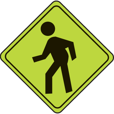 School Safety Signs - Pedestrian Graphic