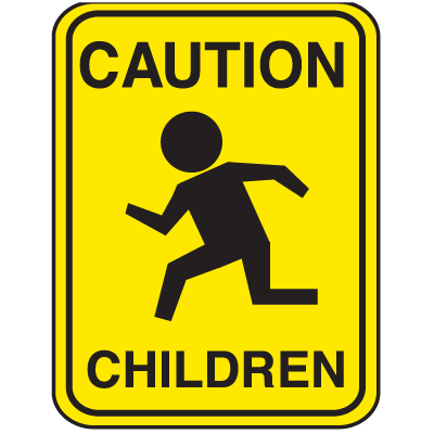 School Zone Signs - Caution Children
