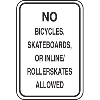 School Zone Signs - No Bicycles